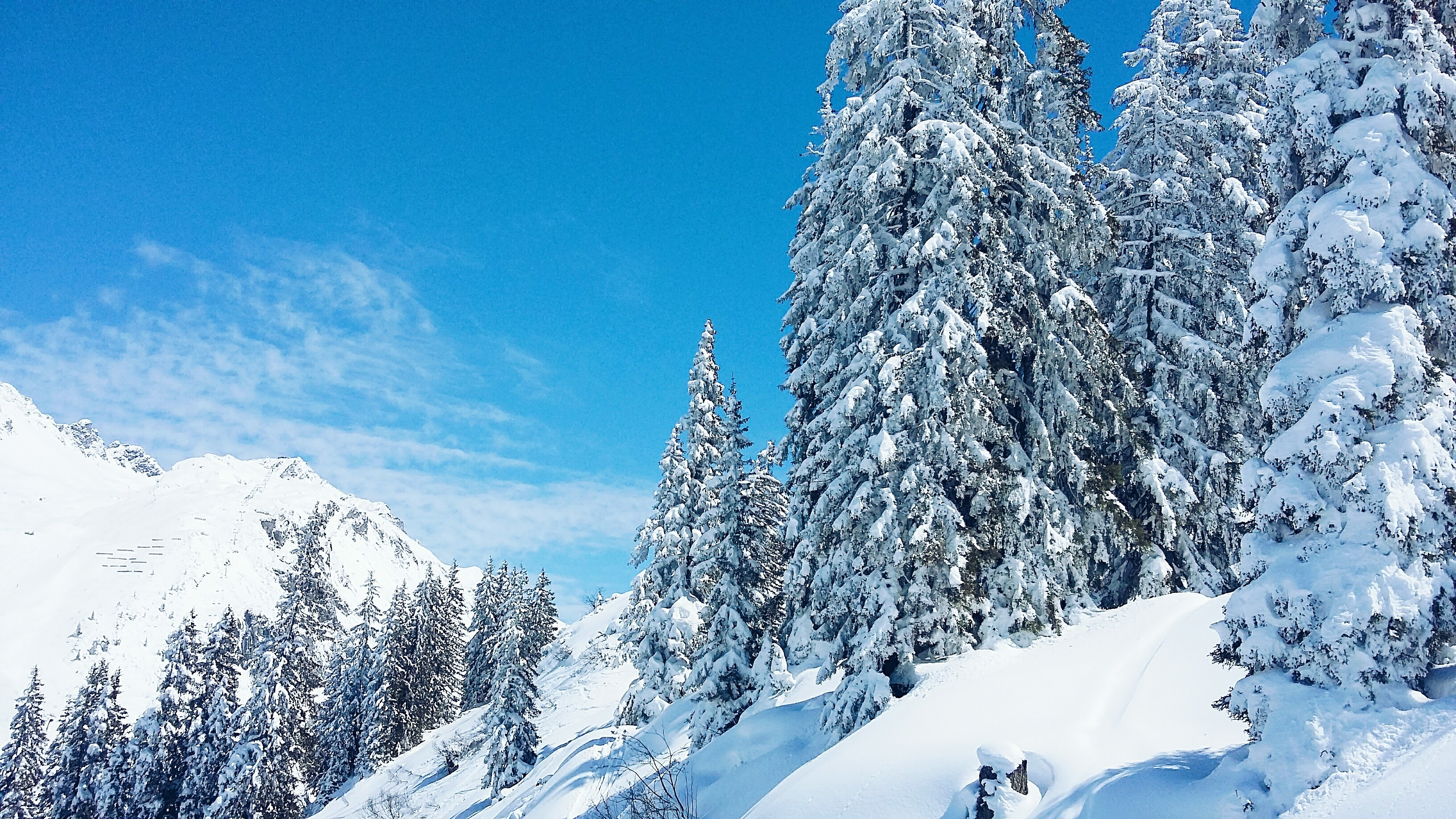 snowy mountains for skiing in Arlberg Austria