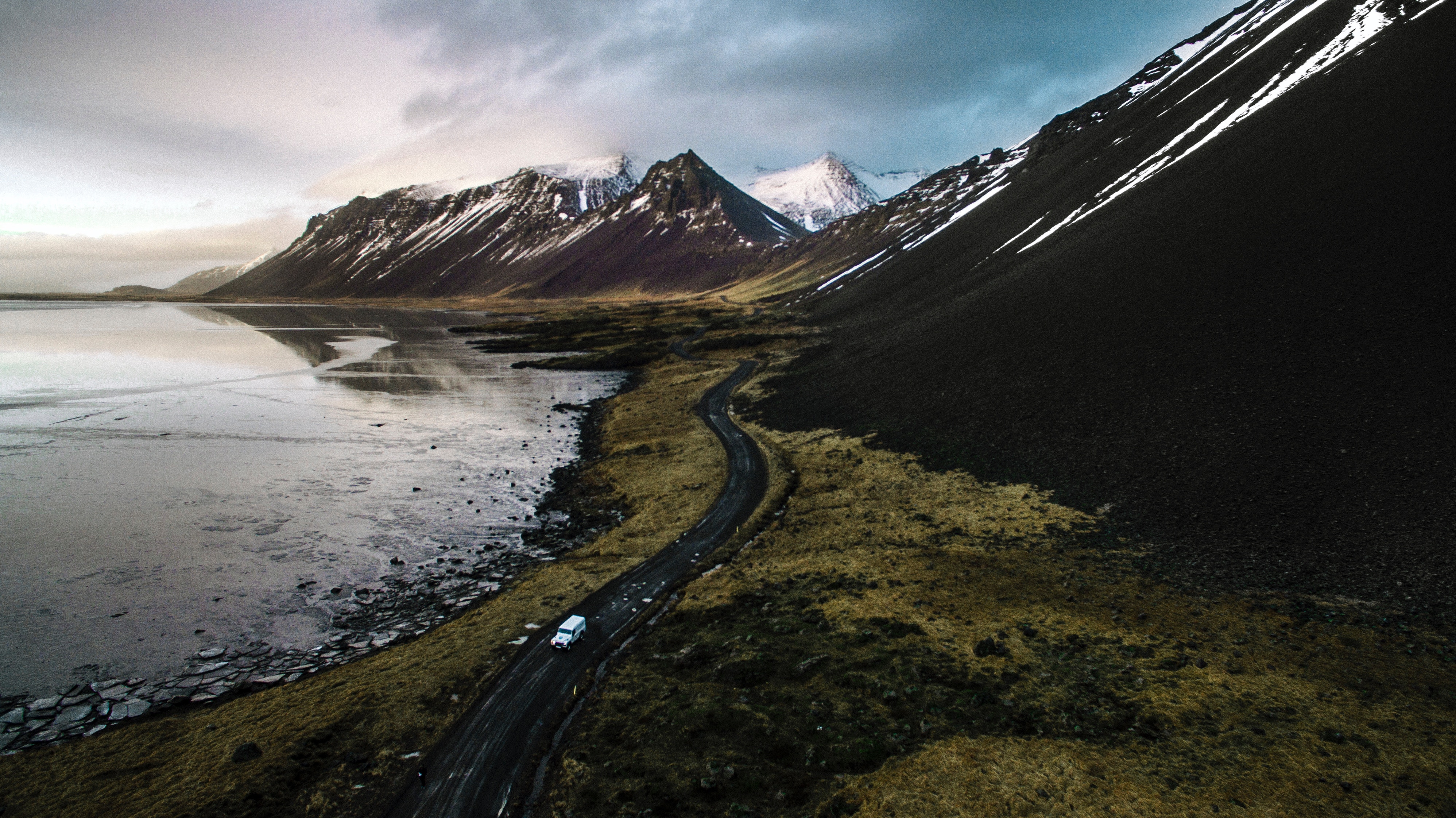 Iceland Mountains Scenery Road