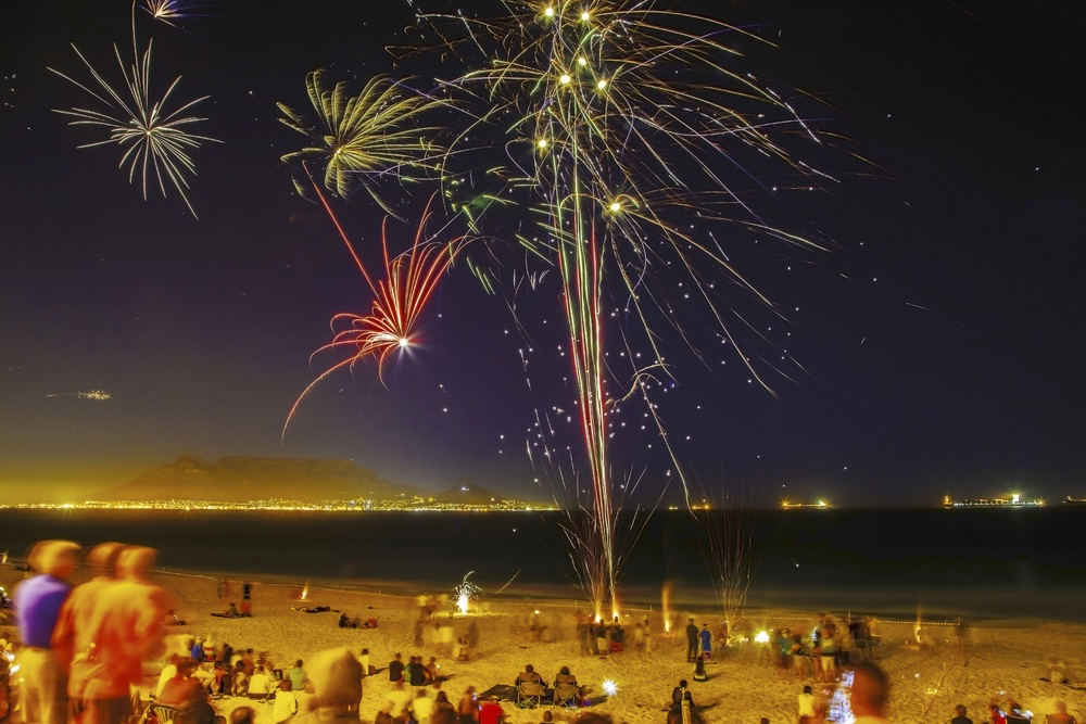fireworks in cape town south africa new years
