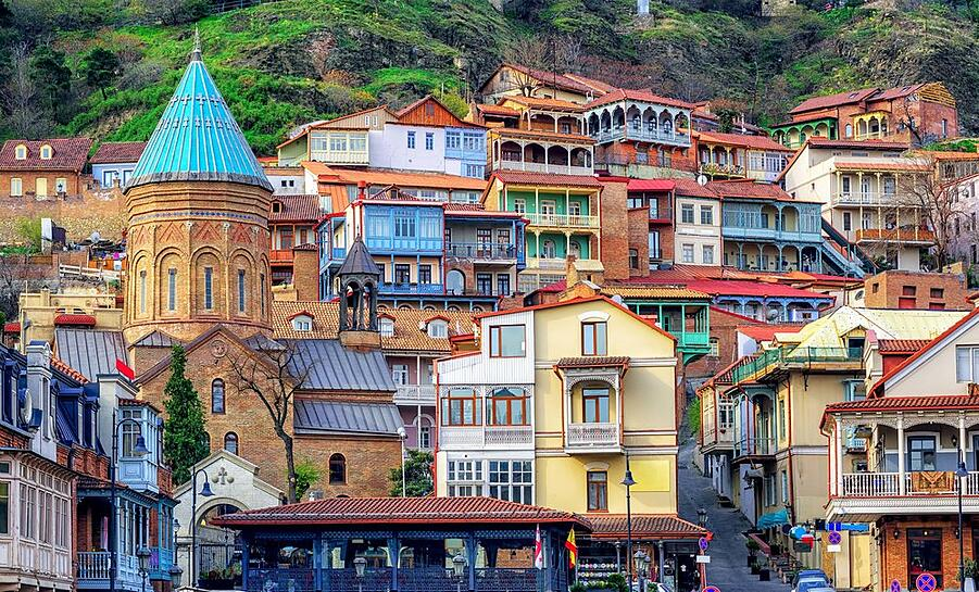 Tbilisi in Georgia with the colorful architecture