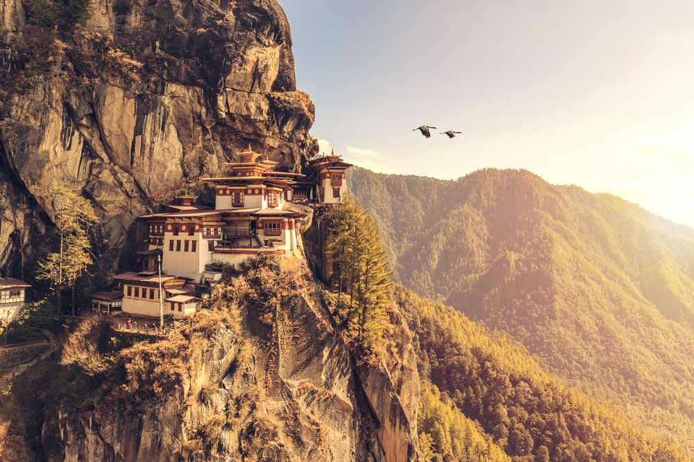 Tiger's Nest, Bhutan sacred site at sunrise