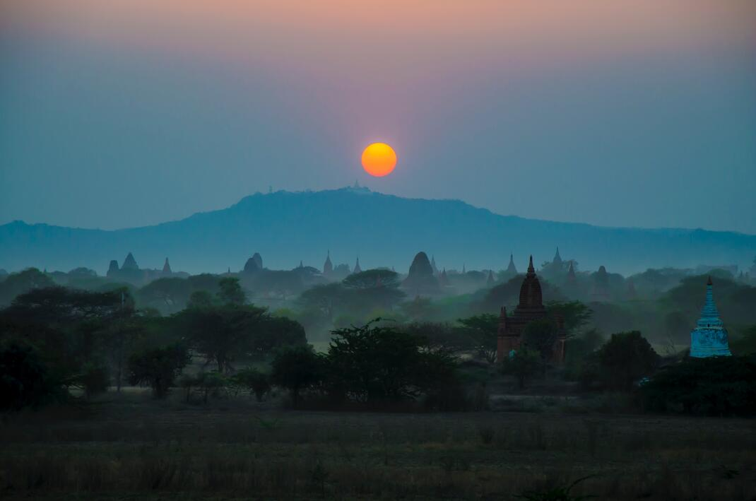 sunrise views in yangon myanmar