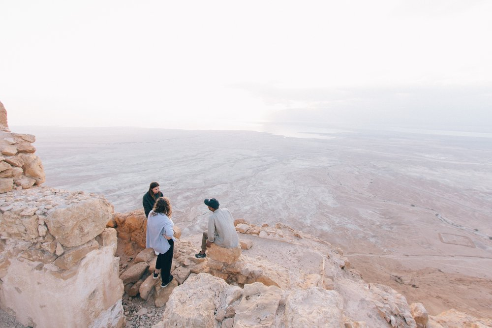 amazing view of desert with friends