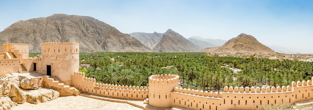old fort in the mountainous landscape of Oman
