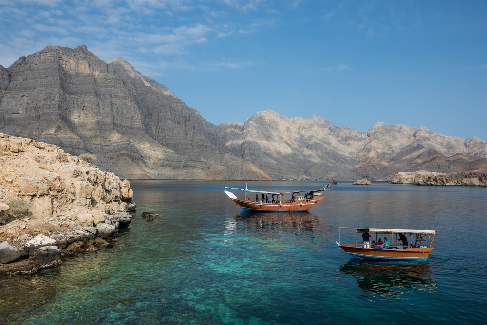 incredible scenery on the waters of Oman